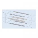 Subrack Divider Kit 2 x 3 U - 84 HP